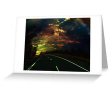 The lost highway Greeting Card