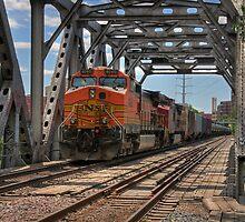 Train on Bridge by JimGuy