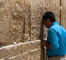 Western Wall by Moshe Cohen
