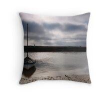 Low tide at Blakeney Throw Pillow