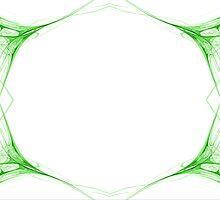 Fractal 42 Green Frame by Henrik Lehnerer