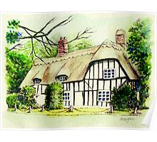 English cottage in cambridgshire Poster