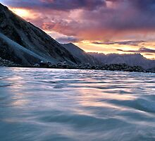 ladakhi sunset. nubra valley, ladakh, india by tim buckley | bodhiimages