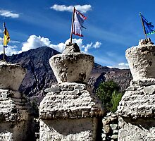 ancient stupas. ladakh, india by tim buckley | bodhiimages