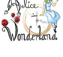 Alice in Wonderland Playbill Cover by Amber Werden