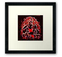Lady Red Glow Framed Print