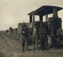 North Dakota Potato Train 1903 by Randy Sprout