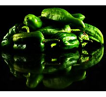 Hot Green Photographic Print