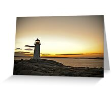 Peggy's Cove at Twilight Greeting Card