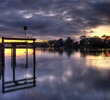 River sunrise. by Steve Chapple