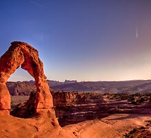 Delicate Arch at sunset by Josh Dayton