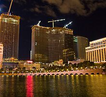Las Vegas Night Shot Construction by photodivaanna