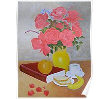 Roses and Fruits No 6 Poster