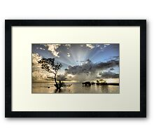 In the deep end. Framed Print