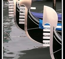 Gondolas of Venice by Angelo Vianello