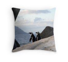 Safari - Penguin Love Throw Pillow