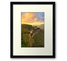 Icon - Sisters Sticking Togerther - Blue Mountains World Heritage Area, Sydney Australia - The HDR Experience Framed Print