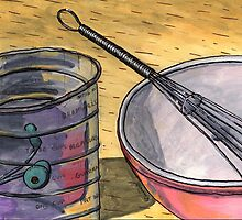 Flour Sifter and Whisk by bernzweig