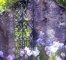 Garden Gate Painting by jpgilmore