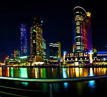Crown Casino Night Panorama 2 by mauricegue