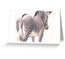 """Wrong Way"" Zebra Wildlife Watercolor Greeting Card"