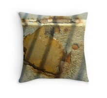 Island of Corrosion - a relief map Throw Pillow