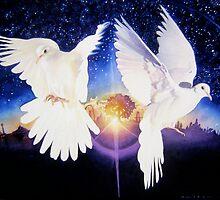 """Pax In terra"" Dove Watercolor by Paul Jackson"