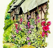 Anne Hathaway`s Cottage by morgansartworld