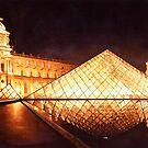 """Les Lumieres du Louvre"" Watercolor by Paul Jackson"