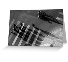 Bikes above I Greeting Card