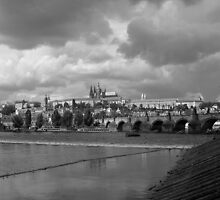 View from Vltava, Prague by Sonishka