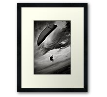 one on one with sky Framed Print