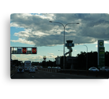 Late Afternoon Traffic Canvas Print