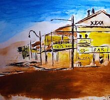 Tatts Hotel Townsville Qld Aust  by gillsart