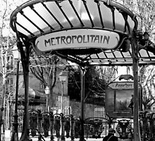 Paris - subway station entrance at Abesses Square (Montmartre) by jean-louis bouzou