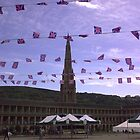 Flags at sunset Halifax by Adrian  Trowbridge