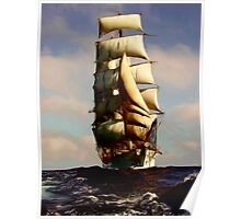 Tall Ship Painting Poster