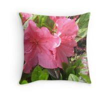 Pink Azalia Throw Pillow