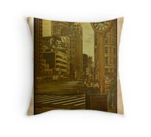 Around the clock... 5th Avenue... Throw Pillow