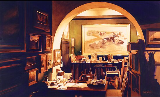 """Obsession"" Studio Watercolor by Paul Jackson"