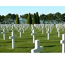 Normandy American Cemetery and Memorial Photographic Print