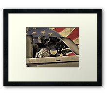 Protect and Defend (American Flag) Framed Print