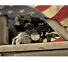 Protect and Defend (American Flag) Photographic Print