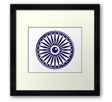 Ashoka Chakra, India Framed Print