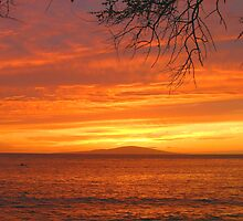 Makena Landing Sunset - Maui by Stephen Vecchiotti