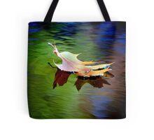 Floating Fall Leaf... Tote Bag