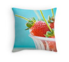 juicy berries Throw Pillow