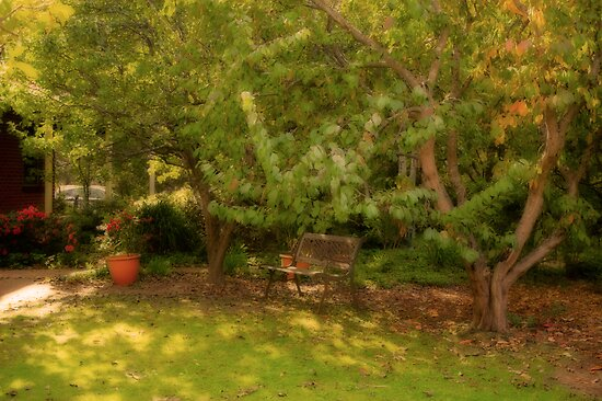 Garden at Ford House, Bridgetown, Western Australia by Elaine Teague