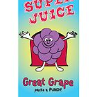 Grape Super Juice Healthy Juice Drink by thirdeyestudio