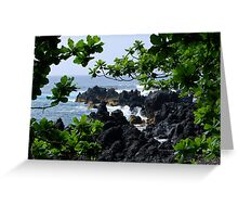 Lava beach in Paradise Greeting Card